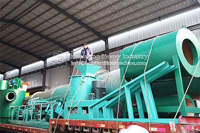 Animal manure organic production line delivery site