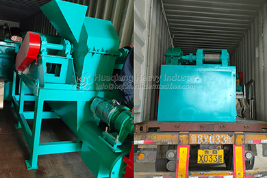 Indonesia to the Roller Press Granulator Production Line delivery site