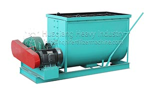 Horizontal fertilizer mixer with high quality and high yield
