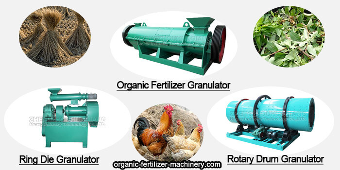 Process flow of granular organic fertilizer production line