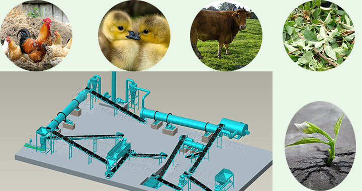 Technological process of cow manure organic fertilizer production line